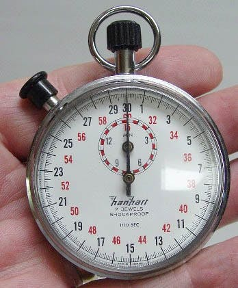 Two-button stopwatch