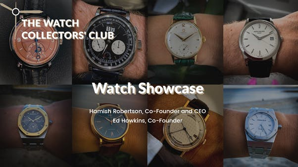 Visual from our virtual watch showcase