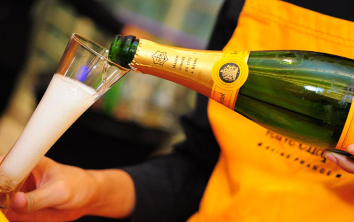Veuve Clicquot is one of LVMH's Champagne brands