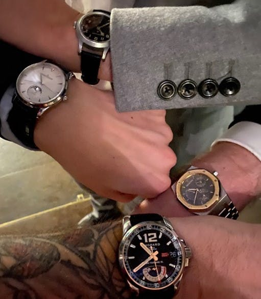A wristshot from our final in person event held Pre-COVID