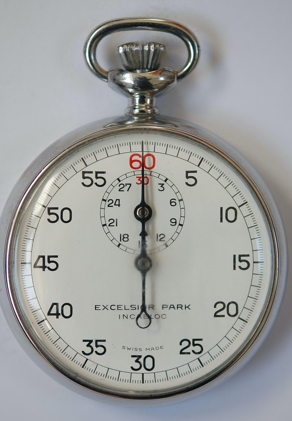 Single-button stopwatch
