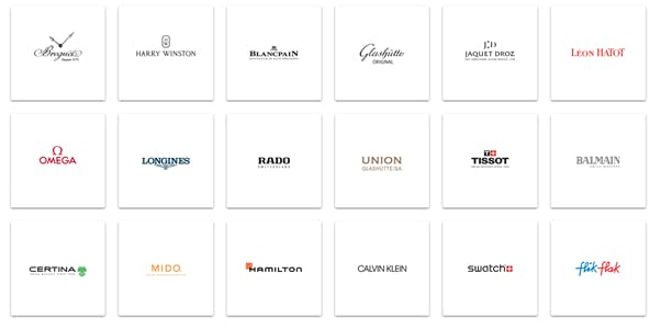 The watch brands of The Swatch Group