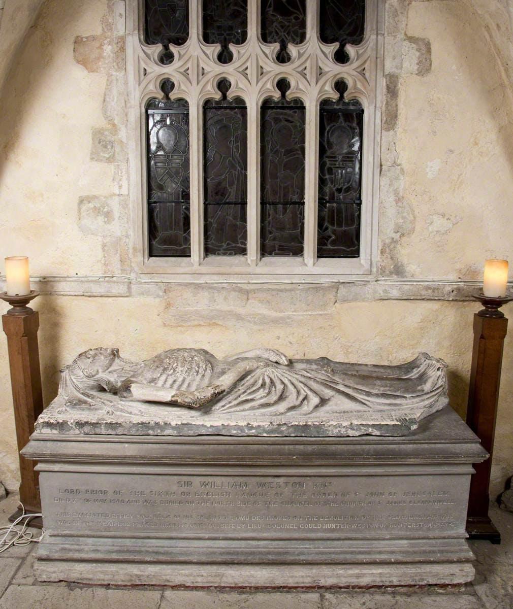 Cadaver Tomb of Prior William Weston