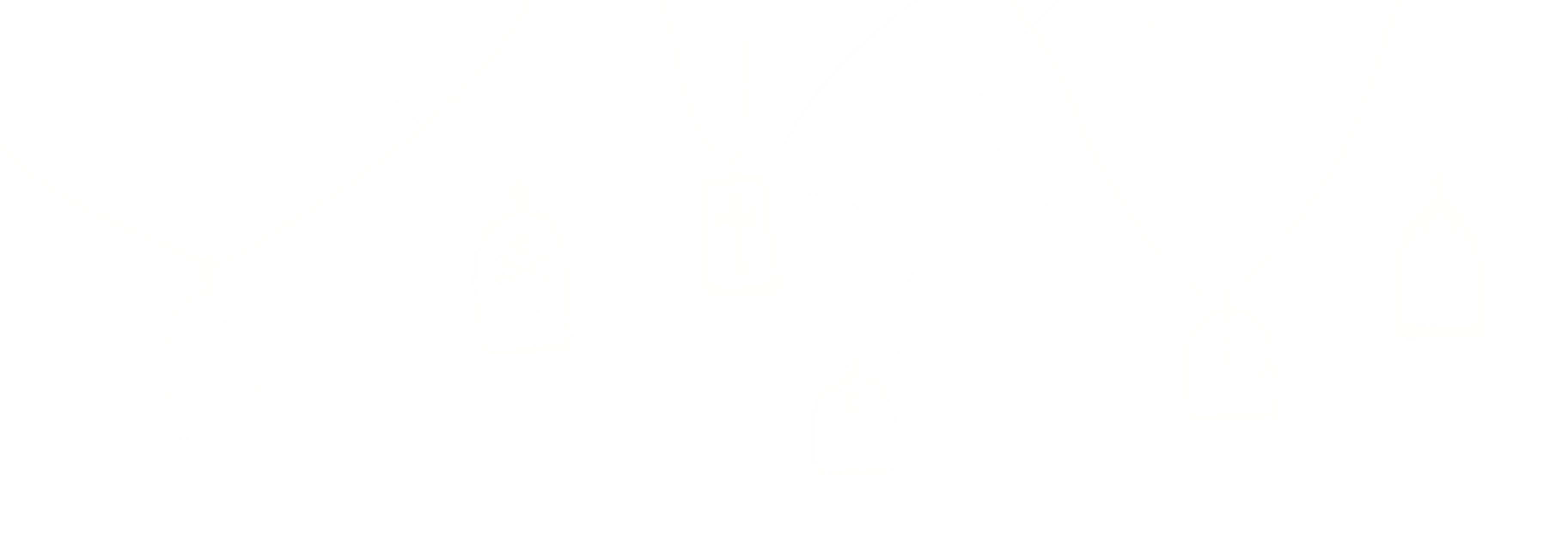 White illustration of tiny simplified gravestones on chains