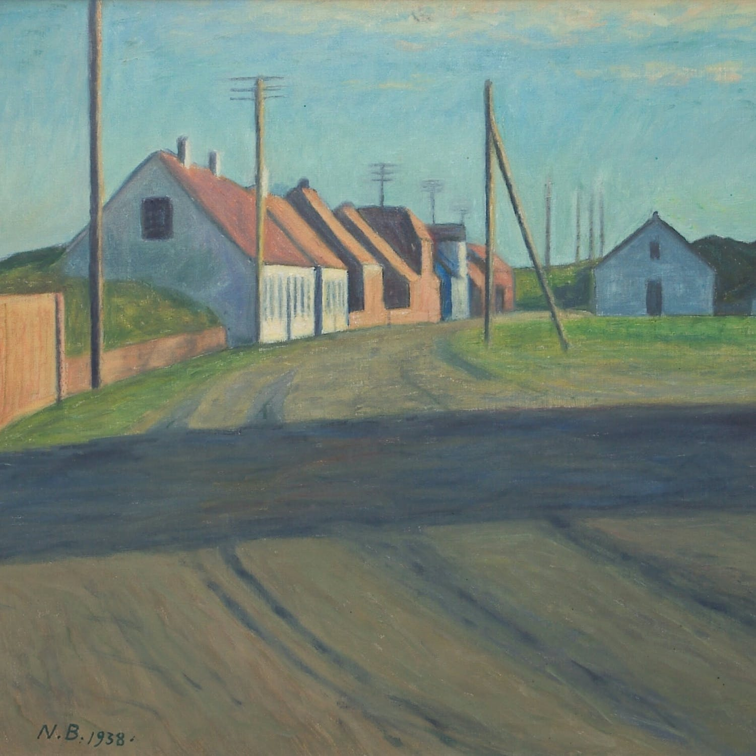 Painting of homes