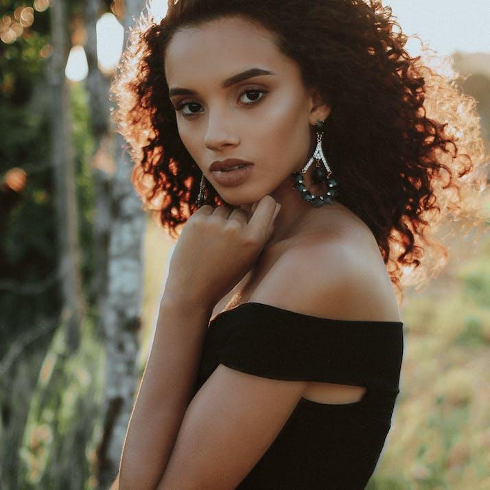 Mixed race woman