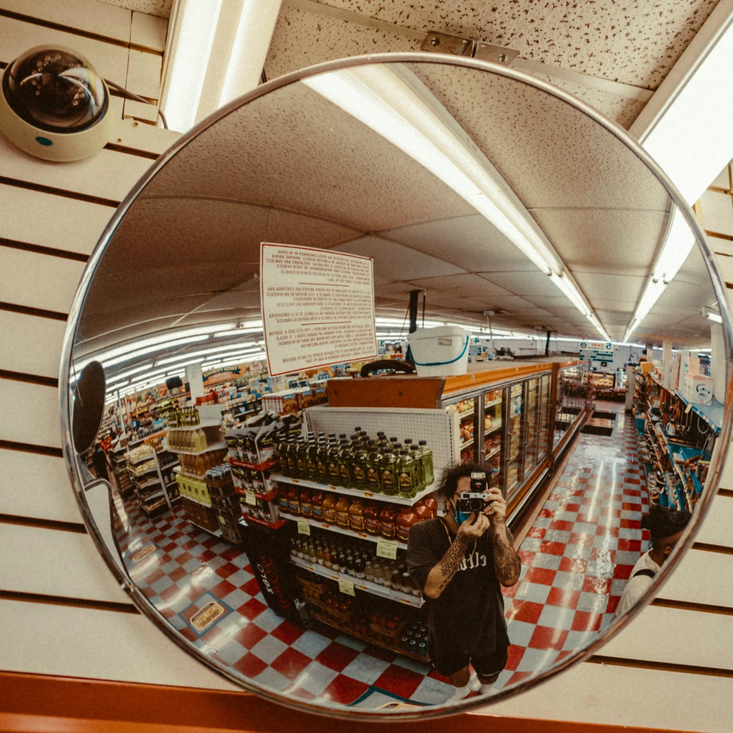 Security mirror in store