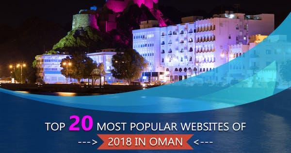 Top 20 most popular websites of 2018 in Oman