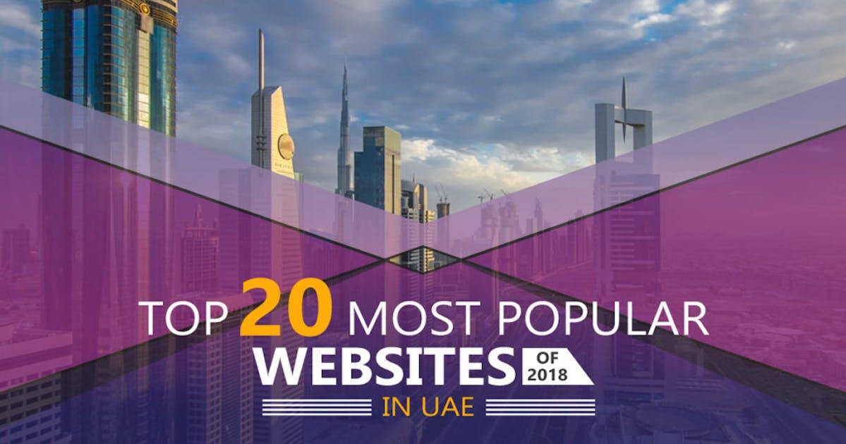 Top 20 most popular websites of 2018 in UAE