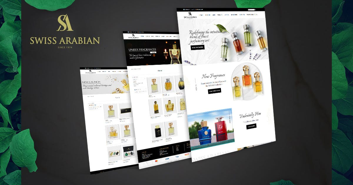 Swiss Arabian Website design