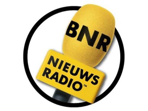 Gustaaf Haan en Wouter Kolk, CEO Ahold Delhaize, bij BNR Nieuwsradio