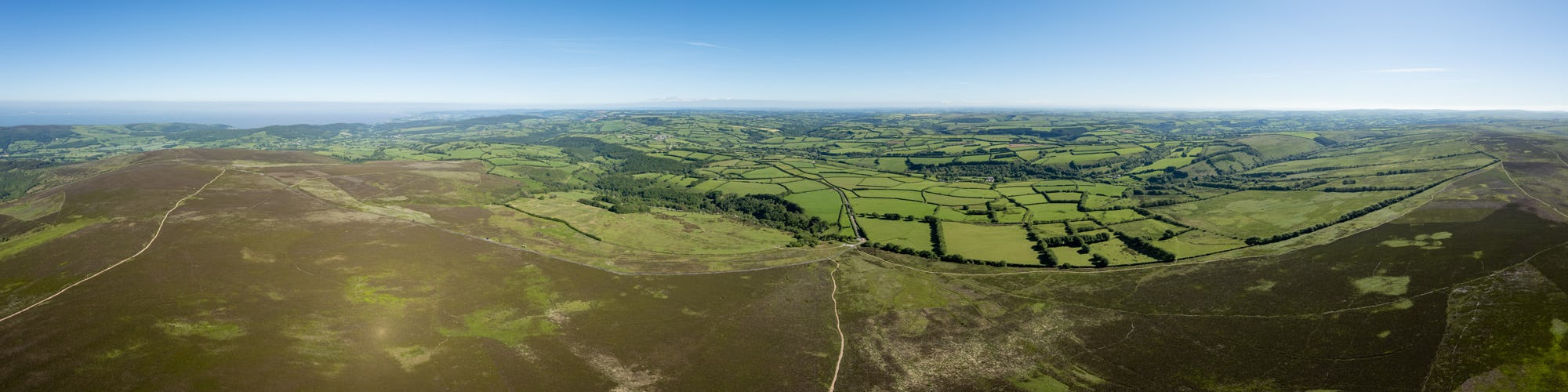 Steadway Farm CL from Dunkery Beacon, Exmoor, Somerset