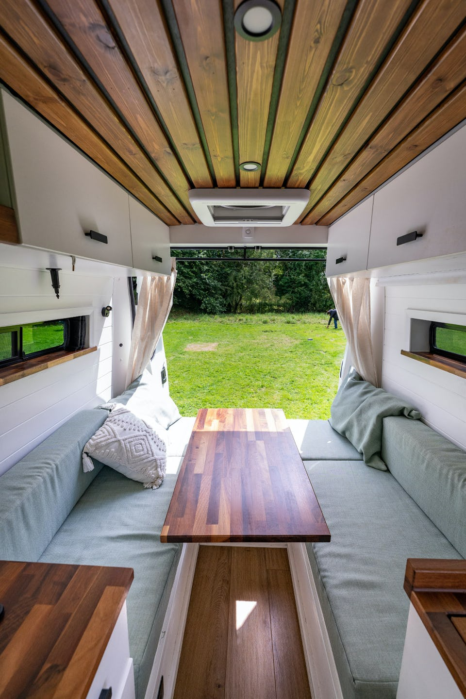 Van conversion with Dinette bed system