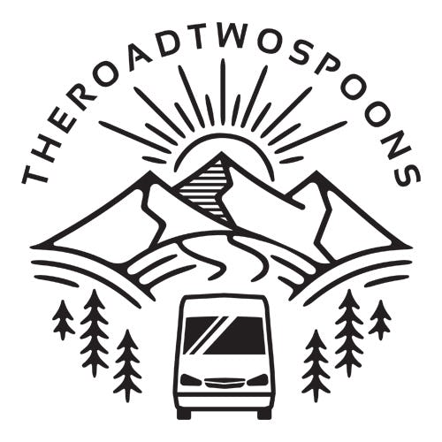The Road Two Spoons Logo