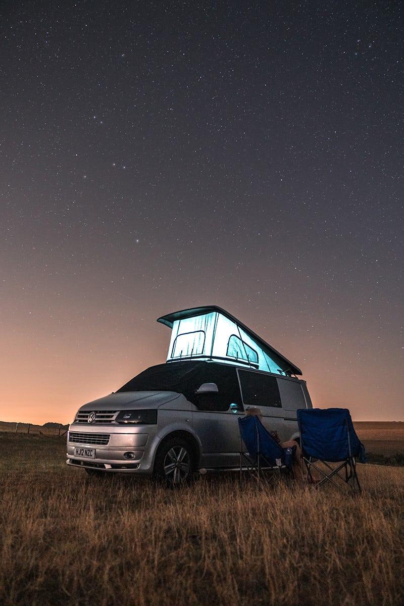 Enjoying a night under the stars
