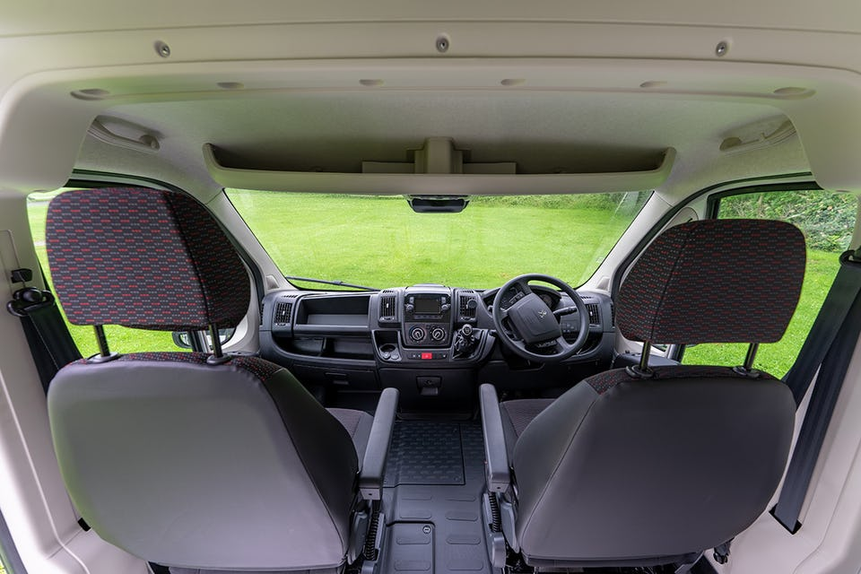 The interior cab of the Boxer