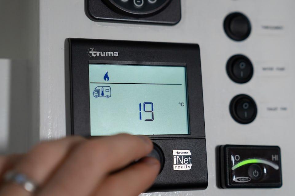 Van boiler control panel