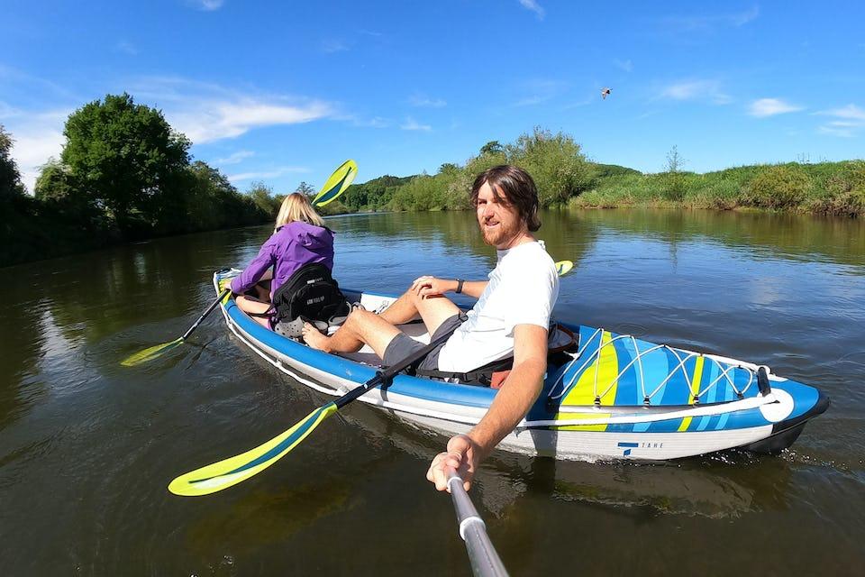 Kayaking in Hay-on-Wye
