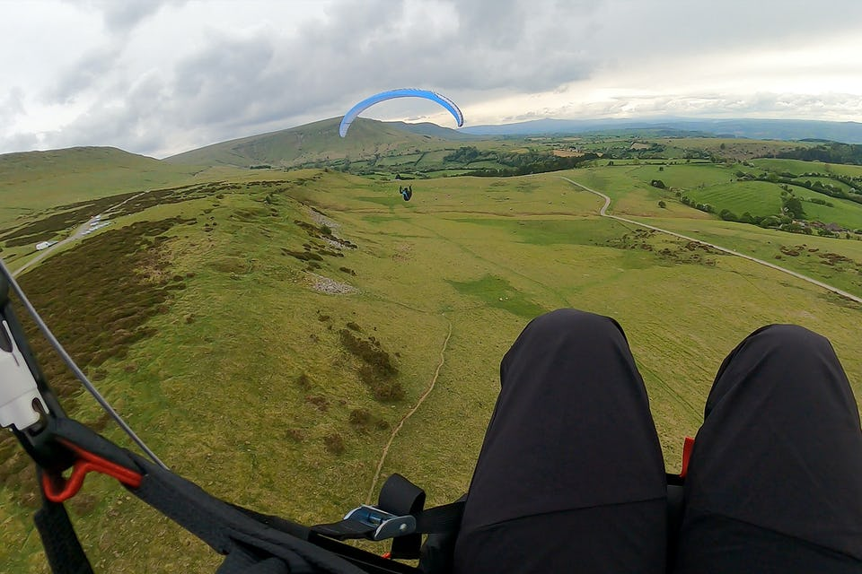 Paragliding at Hay Bluff