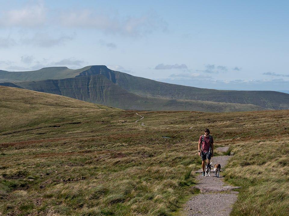 Adventuring near Pen Y Fan in the Brecon Beacons