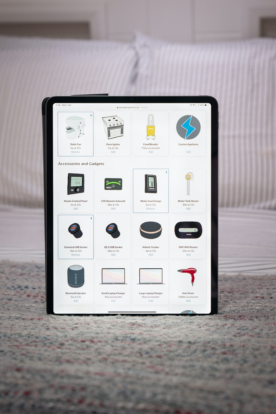 Electrify on Tablet