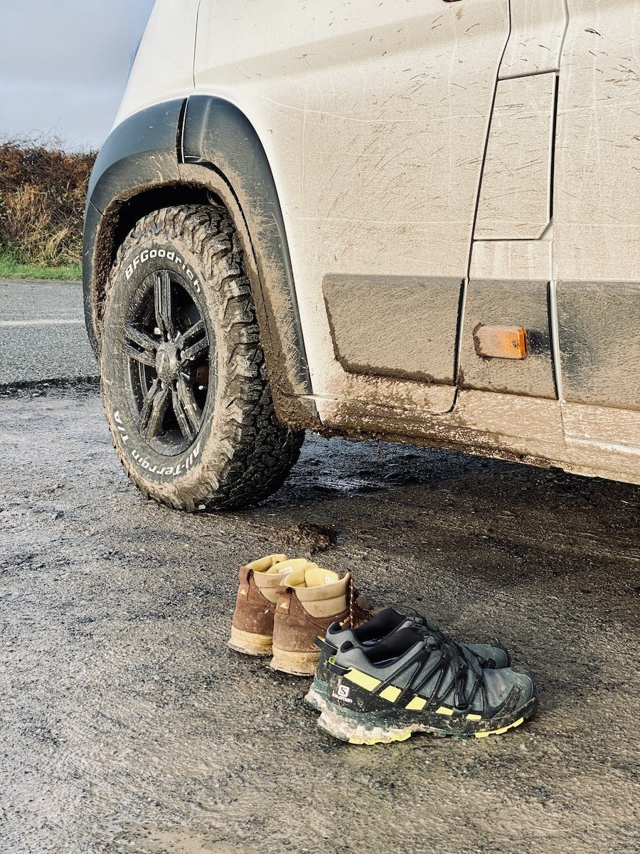 AT tyres on the Peugeot Boxer