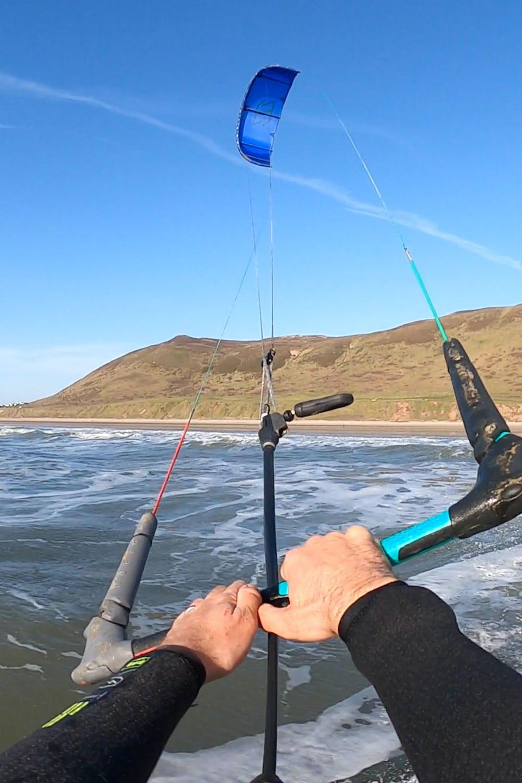 Kitesurfing at Rhosilli