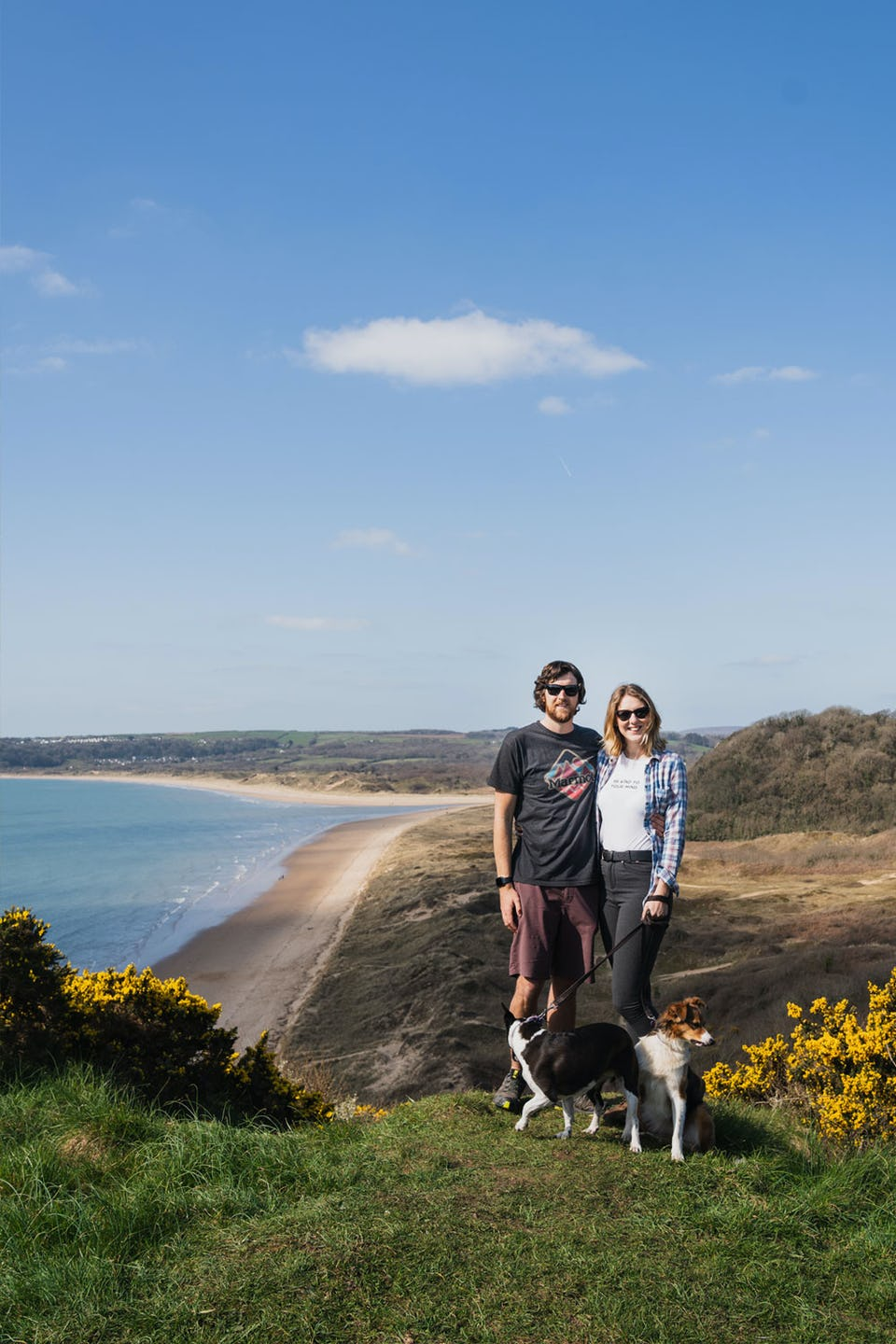 Looking over Oxwich bay