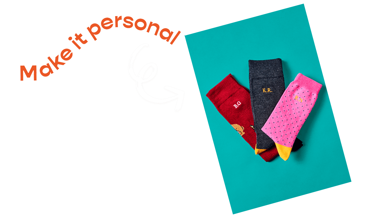 Make it personal with personalised socks