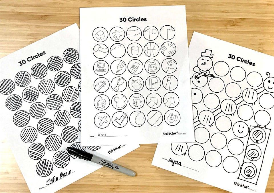 30 circles warm-up