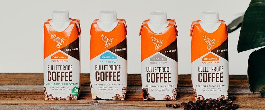 Bulletproof Coffee lineup of portable containers.