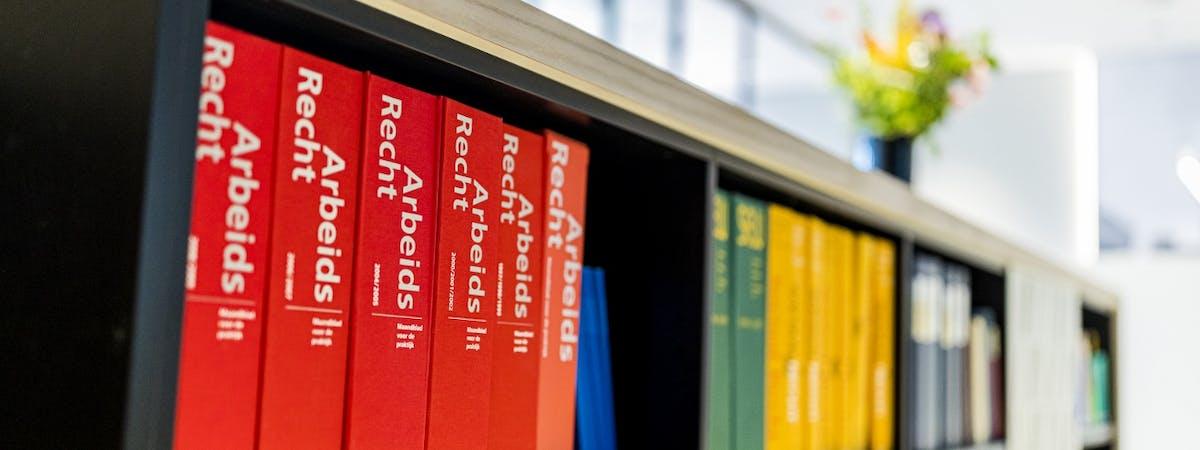Rechtsboeken in kast - Ten Holter Noordam advocaten
