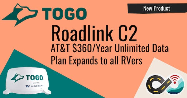AT&T $360/yr RV Unlimited Data Plan Now Available with Togo Roadlink C2