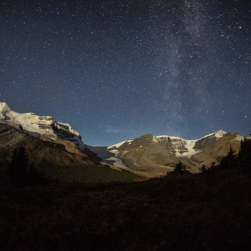 Jasper National Park at night