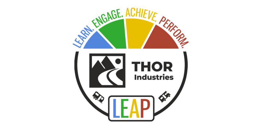 LEAP Logo which stands for learn, engage, achieve, perform