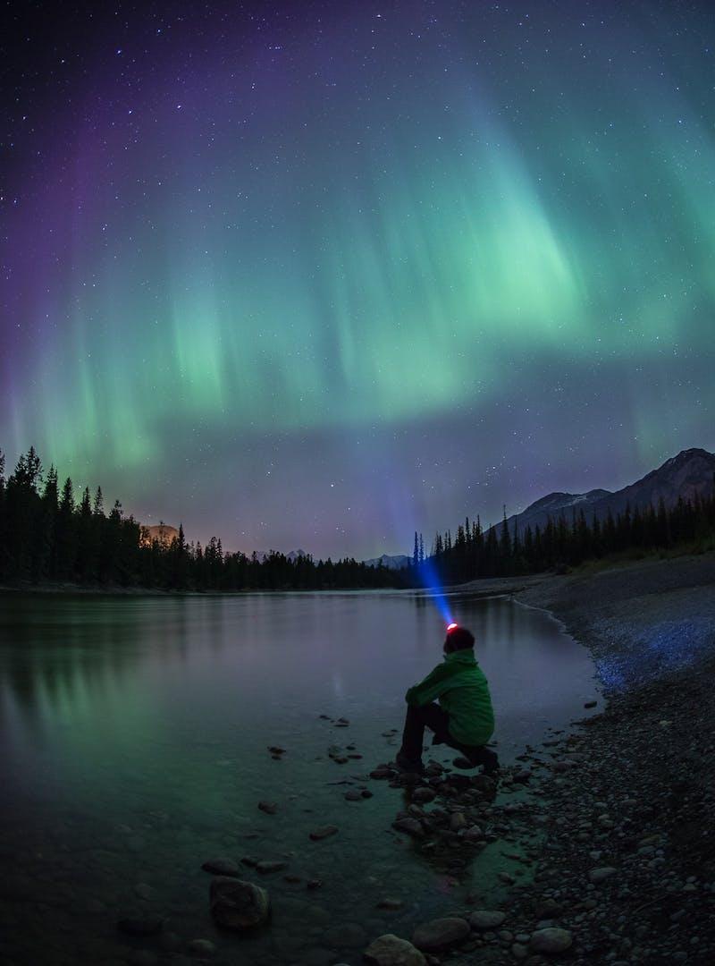 Northern lights in Jasper National Park