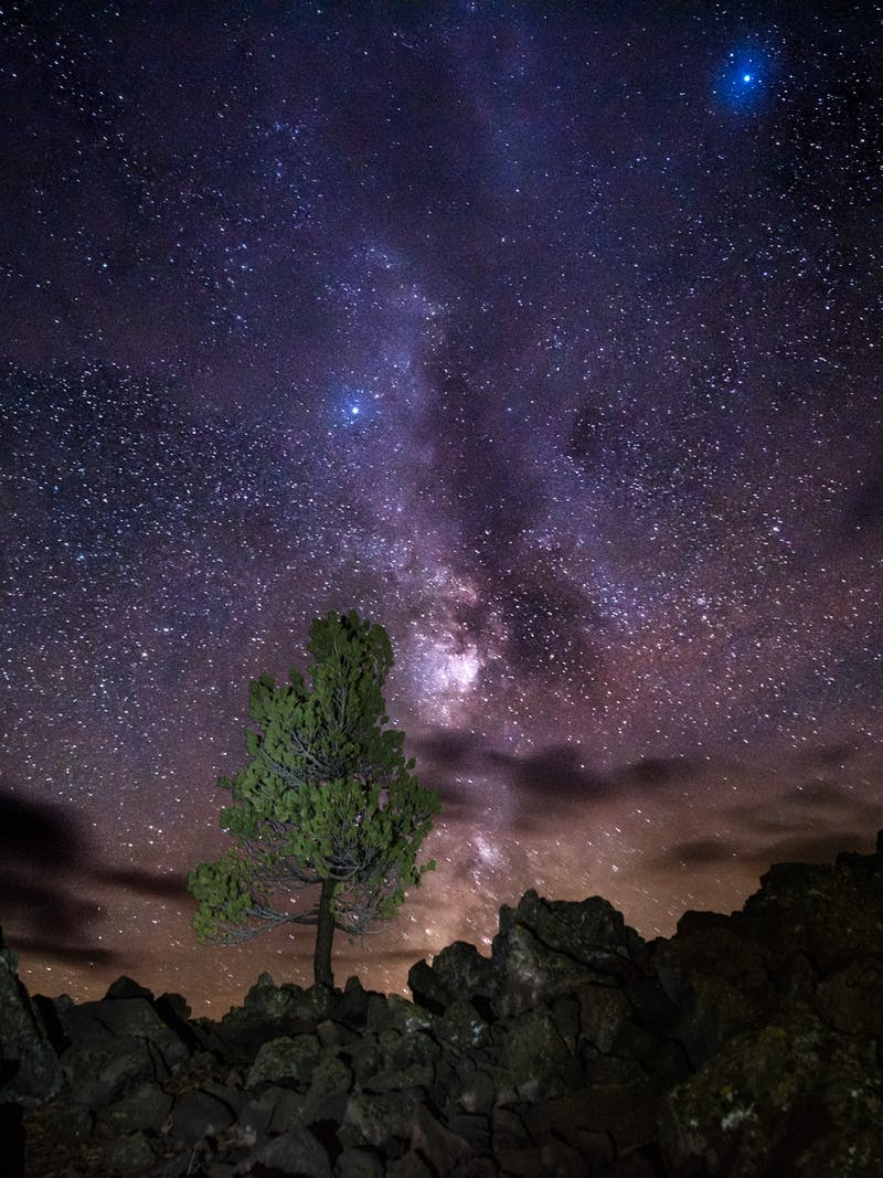 Milky Way over Craters of the Moon National Monument