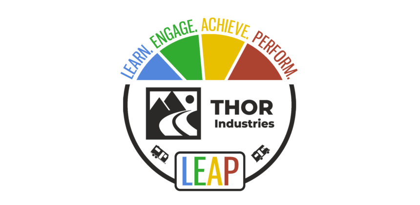 LEAP program logo, standing for learn, engage, achieve and perform