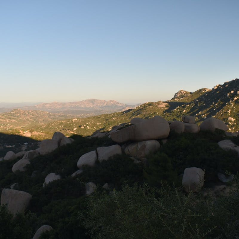 The boulders of Mount Woodson in San Diego, California