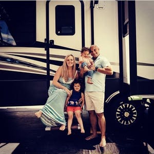 Samantha and Blake with their two children