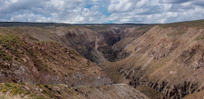 A rocky gorge.