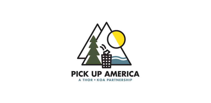Pick Up America Logo A THOR and KOA Partnership