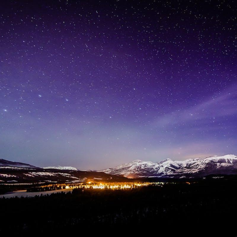 Purple sky over Jasper Dark Sky Preserve