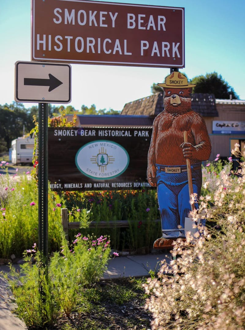 Smokey Bear Historical Park and sign
