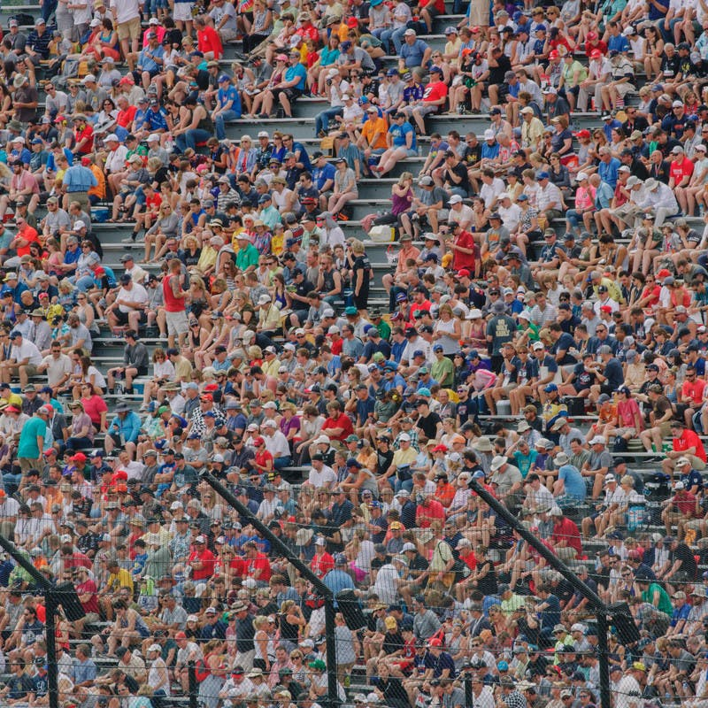 Fans cheer at the 2019 Indy 500.