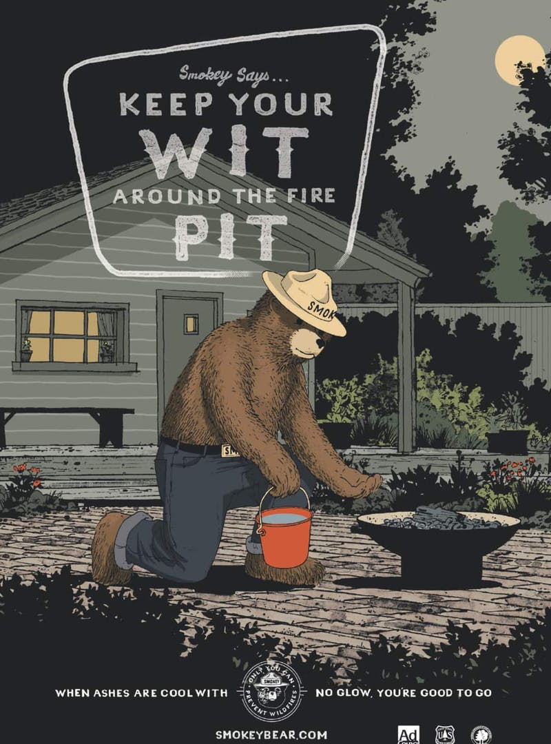 Current Smokey Bear illustrated PSA