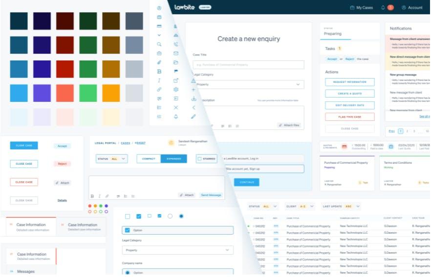 Lawbite design system in Figma
