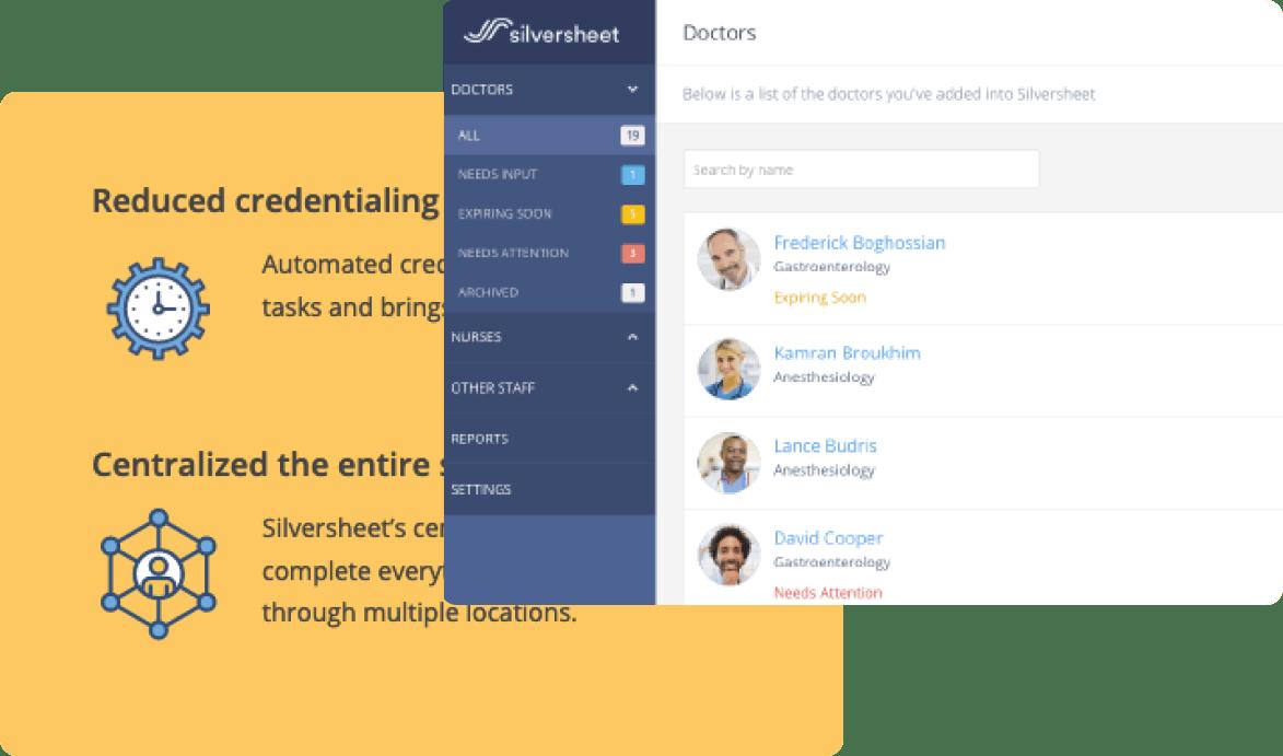 Silversheet user interface examples