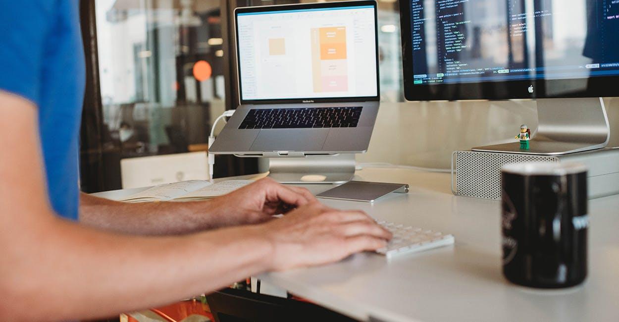Developer working in Python