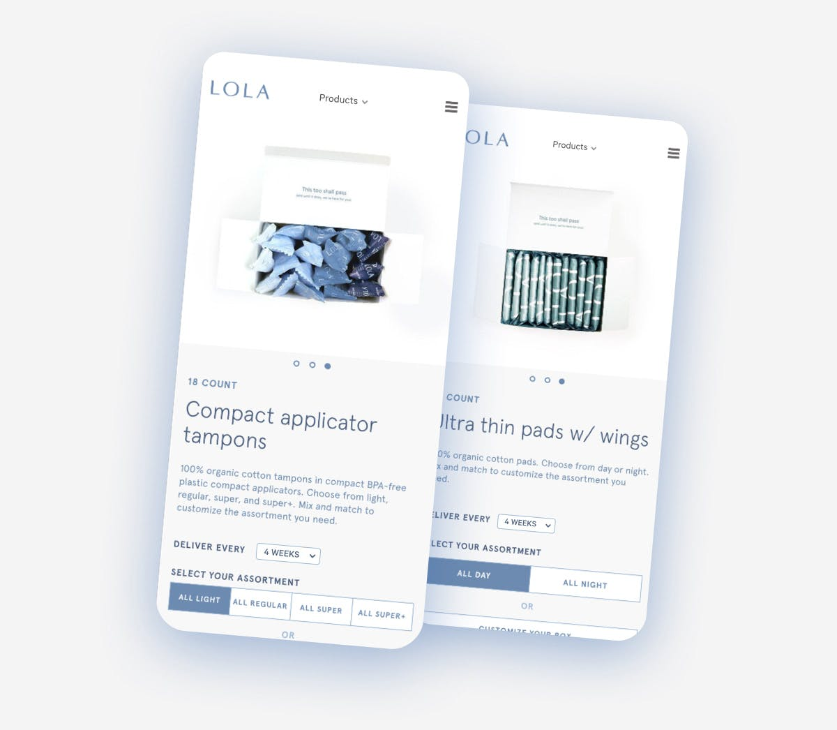 LOLA Product Page